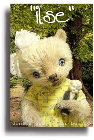 Ilse by Award Winning One Of A Kind Handmade Mohair Teddy Bear Artist Denise Purrington of Out of The Forest Bears