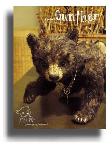 Gunther by Award Winning One Of A Kind Handmade Mohair Teddy Bear Artist Denise Purrington of Out of The Forest Bears