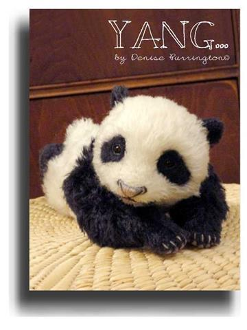 Yang  by Award Winning One Of A Kind Handmade Mohair Teddy Bear Artist Denise Purrington of Out of The Forest Bears