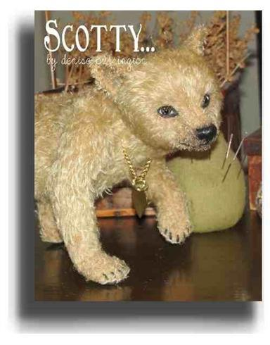 Scotty by Award Winning One Of A Kind Handmade Mohair Teddy Bear Artist Denise Purrington of Out of The Forest Bears