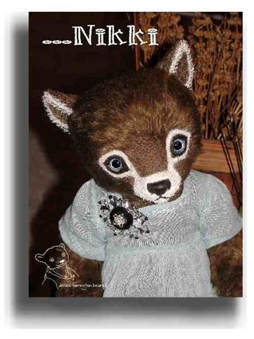 Nikki by Award Winning One Of A Kind Handmade Mohair Teddy Bear Artist Denise Purrington of Out of The Forest Bears