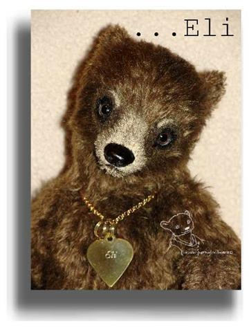 Eli by Award Winning One Of A Kind Handmade Mohair Teddy Bear Artist Denise Purrington of Out of The Forest Bears