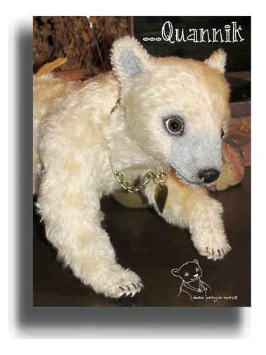 Quannik by Award Winning One Of A Kind Handmade Mohair Teddy Bear Artist Denise Purrington of Out of The Forest Bears