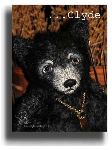 Clyde by Award Winning One Of A Kind Handmade Mohair Teddy Bear Artist Denise Purrington of Out of The Forest Bears