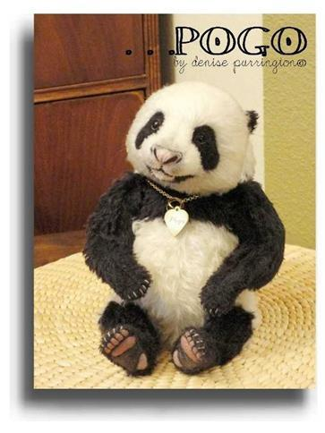Pogo by Award Winning One Of A Kind Handmade Mohair Teddy Bear Artist Denise Purrington of Out of The Forest Bears