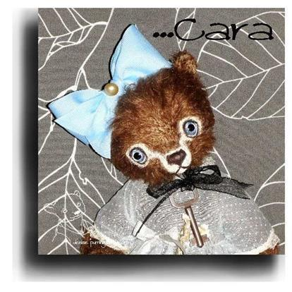 Cara by Award Winning One Of A Kind Handmade Mohair Teddy Bear Artist Denise Purrington of Out of The Forest Bears