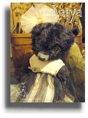 Kaiya by Award Winning One Of A Kind Handmade Mohair Teddy Bear Artist Denise Purrington of Out of The Forest Bears