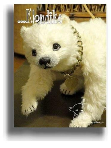 Klondike by Award Winning One Of A Kind Handmade Mohair Teddy Bear Artist Denise Purrington of Out of The Forest Bears