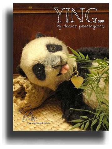 Ying  by Award Winning One Of A Kind Handmade Mohair Teddy Bear Artist Denise Purrington of Out of The Forest Bears
