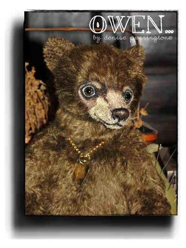 Owen by Award Winning One Of A Kind Handmade Mohair Teddy Bear Artist Denise Purrington of Out of The Forest Bears