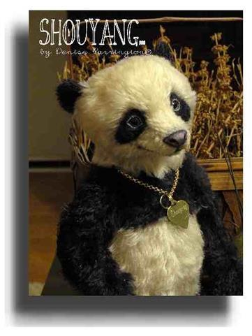 Shouyang by Award Winning One Of A Kind Handmade Mohair Teddy Bear Artist Denise Purrington of Out of The Forest Bears