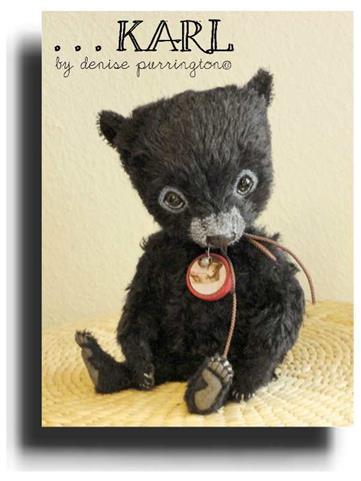 Karl by Award Winning One Of A Kind Handmade Mohair Teddy Bear Artist Denise Purrington of Out of The Forest Bears