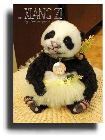 Xiang Zi by Award Winning One Of A Kind Handmade Mohair Teddy Bear Artist Denise Purrington of Out of The Forest Bears
