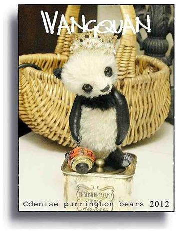 Wanquan by Award Winning One Of A Kind Handmade Mohair Teddy Bear Artist Denise Purrington of Out of The Forest Bears
