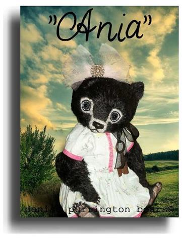Ania by Award Winning One Of A Kind Handmade Mohair Teddy Bear Artist Denise Purrington of Out of The Forest Bears