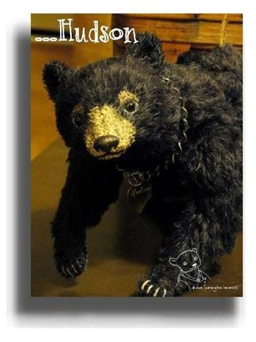 Hudson by Award Winning One Of A Kind Handmade Mohair Teddy Bear Artist Denise Purrington of Out of The Forest Bears