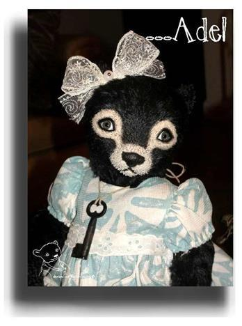Adel by Award Winning One Of A Kind Handmade Mohair Teddy Bear Artist Denise Purrington of Out of The Forest Bears