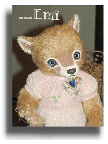 Emi by Award Winning One Of A Kind Handmade Mohair Teddy Bear Artist Denise Purrington of Out of The Forest Bears
